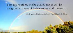 Image or Rainbow as a sign of God's promise